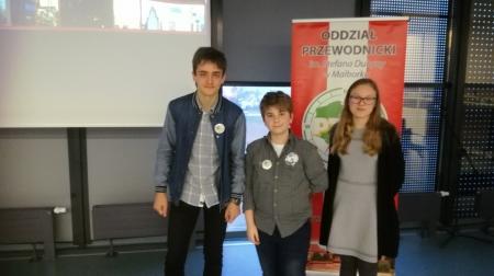 Nasi prelegenci nagrodzeni podczas powiatowej sesji malborskiego PTTK