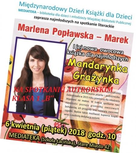 Na spotkaniu autorskim z Marleną Popławską-Marek