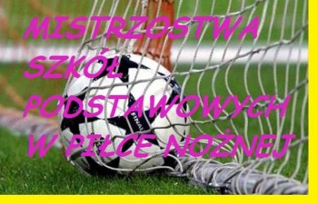 Mistrzostwa szkół podstawowych w piłce nożnej ( chłopców i dziewcząt )