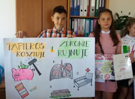 Papieros kosztuje i zdrowie rujnuje - konkurs plastyczny