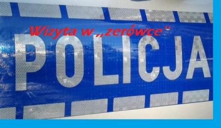 Wizyta policjanta w szkole-bezpieczna ,,zerówka''