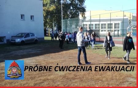 Próbne ćwiczenia ewakuacji uczniów i pracowników