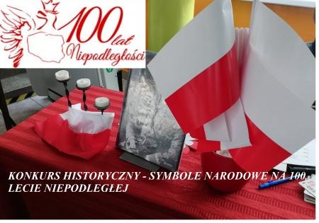 Szkolny konkurs historyczny - Symbole Narodowe na 100 lecie Niepodległej