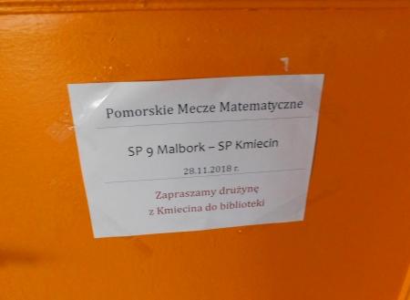 Pomorskie Mecze Matematyczne - rywal z Kmiecina, pokonany