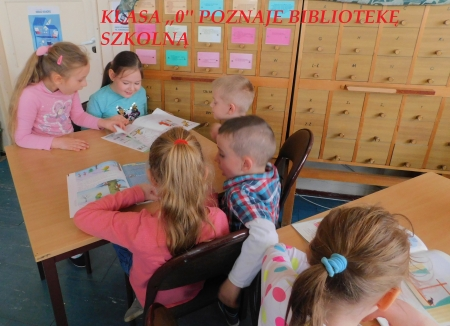 ,,Zerówkowicze'' poznają bibliotekę szkolną