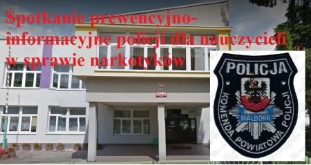 Szkolenie prewencyjno-informacyjne policji i SANEPIDU z nauczycielami w sprawie