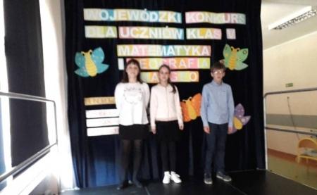 Nasza reprezentacja piątoklasistów zajęła trzecie miejsce w wojewódzkim konkursie mat