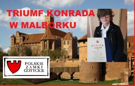 Triumf Konrada Janusz w gminnym konkursie historycznym – Zamki Gotyckie