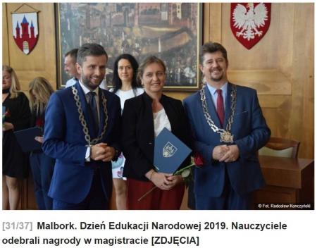 Nasi nauczyciele odebrali nagrody w magistracie