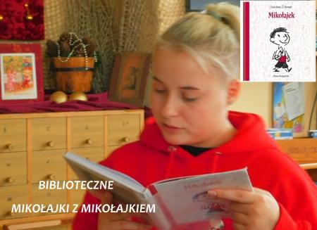 Biblioteczne czytanie ,,Mikołajka'' z konkursem