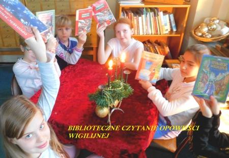 Biblioteczne czytanie ,,Opowieści Wigilijnej ''