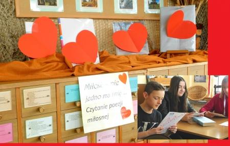 ,,Miłujemy Książki''- walentynkowe czytanie w bibliotece