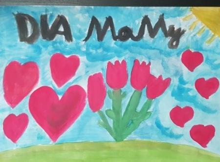 Prace uczniów z klasy III a – na ,,Dzień Mamy''. Majowy ogród.