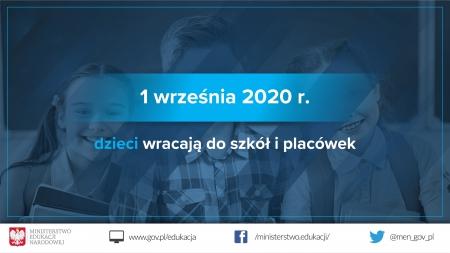 POWRÓT DO SZKOŁY 1 WRZEŚNIA 2020 r.
