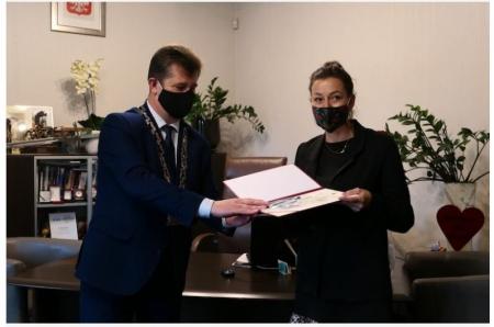 Nagroda Burmistrza Malborka dla naszej nauczycielki !