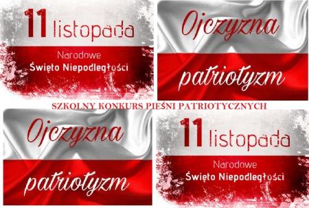 Szkolny (zdalny) Konkurs Pieśni Patriotycznych