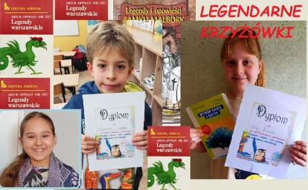 Znamy laureatów szkolnego konkursu pt. ,,Legendarny''-  Mistrz Krzyżówki