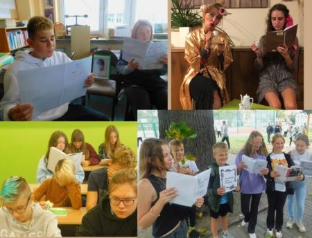 Narodowe czytanie -Moralności Pani Dulskiej - w naszej szkole